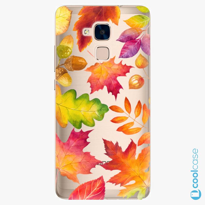 Silikonové pouzdro iSaprio - Autumn Leaves 01 na mobil Honor 7 Lite