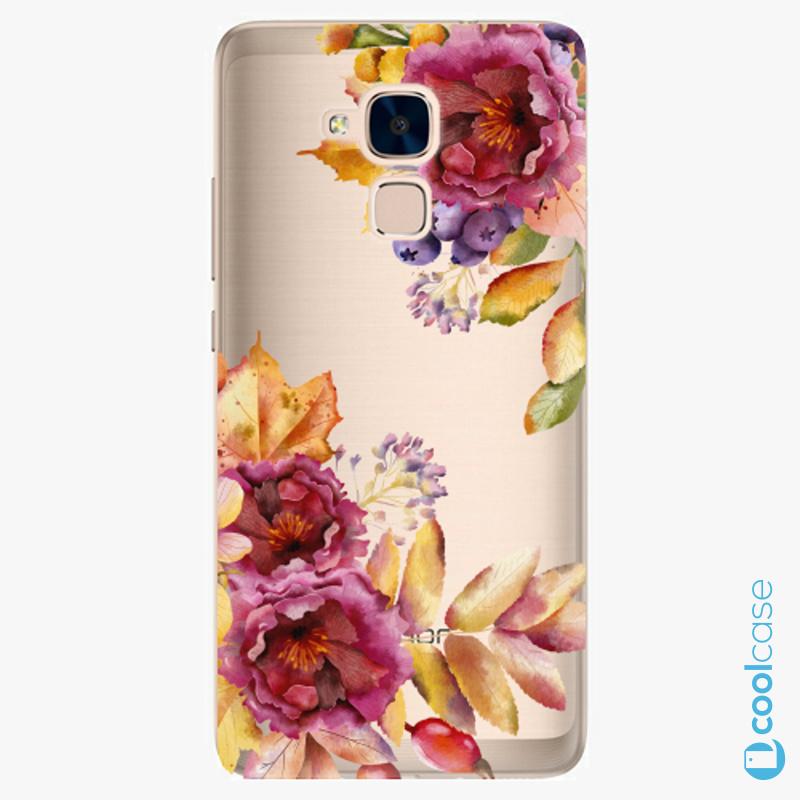Silikonové pouzdro iSaprio - Fall Flowers na mobil Honor 7 Lite