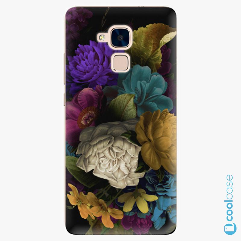 Silikonové pouzdro iSaprio - Dark Flowers na mobil Honor 7 Lite