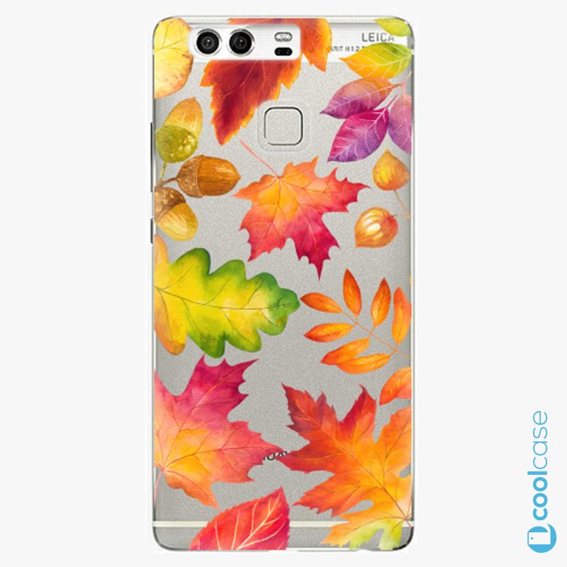 Silikonové pouzdro iSaprio - Autumn Leaves 01 na mobil Huawei P9