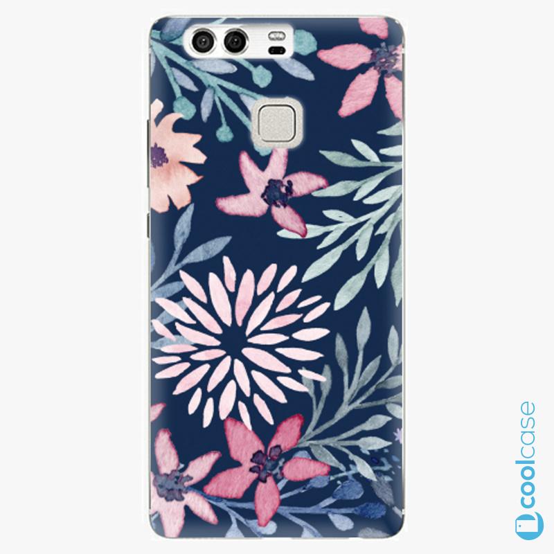 Silikonové pouzdro iSaprio - Leaves on Blue na mobil Huawei P9