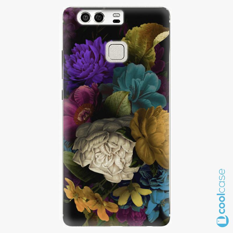Silikonové pouzdro iSaprio - Dark Flowers na mobil Huawei P9