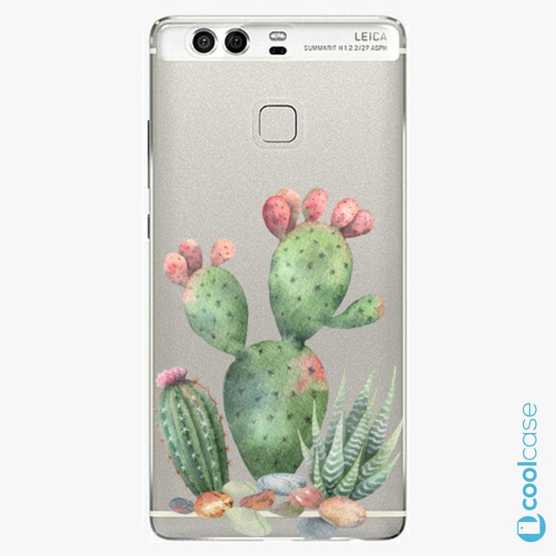 Silikonové pouzdro iSaprio - Cacti 01 na mobil Huawei P9